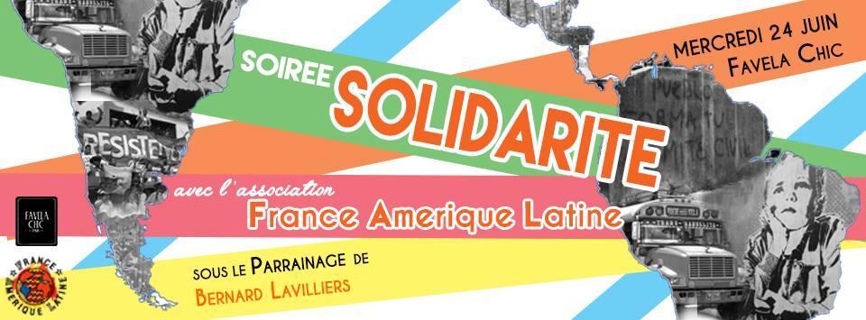 Soirée Solidarité avec l'Association France Amérique Latine